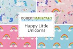 Robert Kaufman - Happy Little Unicorns Collection