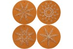 Rico - Christmas Bauble Tags, Kraft Paper, Pack of 8 (Embroidery Kit)