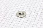 Sirdar Round Vintage Metal Button, Silver, 15mm