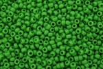 Toho Glass Seed Beads, Opaque Bright Green (0047) - Size 8, 3mm