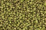 Toho Glass Seed Beads, Avocado Cranberry Marbled Opaque (1209) - Size 8, 3mm