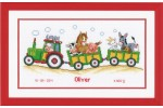 Vervaco - Birth Record - Tractor (Cross Stitch Kit)
