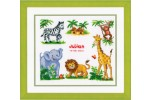 Vervaco - Birth Record - Zoo Animals (Cross Stitch Kit)