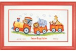 Vervaco - Birth Record - Animal Train (Cross Stitch Kit)