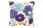 Vervaco - Blue Flowers Cushion (Cross Stitch Kit)