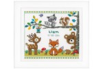 Vervaco - Birth Record - Forest Animals (Cross Stitch Kit)