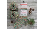 Ready-Made Knitted Socks - Luxury Bluefaced Leicester - Christmas Collection - Fairy Lights - Size 3-5