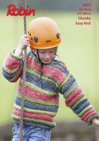 Robin 3007 -Ridged Boat Neck Sweater in Phoenix Chunky (leaflet)
