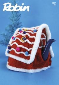 Robin 3037 Gingerbread House Tea Cosy in Robin DK (leaflet)