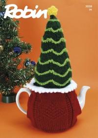 Robin 3038 Christmas Tree Tea Cosy in Robin DK (leaflet)