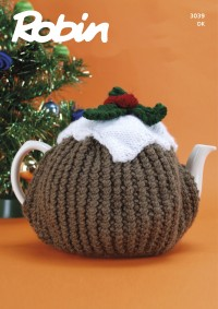 Robin 3039 Christmas Pudding Tea Cosy in Robin DK (leaflet)