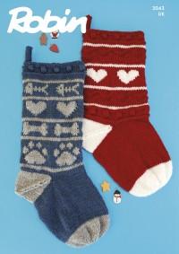 Robin 3043 Christmas Stockings in Robin DK (leaflet)