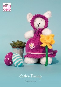 King Cole - Easter Bunny in Truffle and Big Value DK 50g (downloadable PDF)