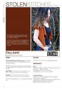 Adrift Cardigan in Titus (Leaflet)