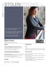 Dark Pearl Cardigan in Titus (Booklet)