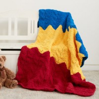 Bernat - 1-2-3 Crochet Blanket in Blanket Brights (downloadable PDF)