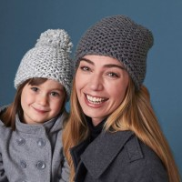 Bernat - All in the Family Hats in Softee Chunky (downloadable PDF)