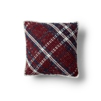 Bernat - Argyle Plaid Crochet Cushion in Softee Chunky Tweeds (downloadable PDF)
