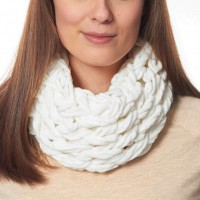 Bernat - Arm Knit Cowl in Baby Blanket (downloadable PDF)