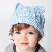 Bernat - Baby Kitty Crochet Hat in Softee Baby (downloadable PDF)