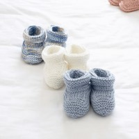Bernat - Baby's Booties in Satin, or Handicrafter Cotton (downloadable PDF)