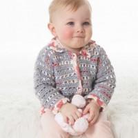 Bernat - Baby's Lacy Jacket in Softee Baby (downloadable PDF)