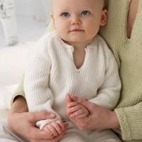 Bernat - Baby's Pullover in Satin (downloadable PDF)