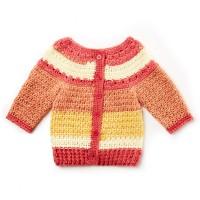 Bernat - Baby Stripes Sweater in Softee Baby Stripes (downloadable PDF)