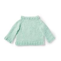 Bernat - Crochet Sweater in Baby Velvet (downloadable PDF)