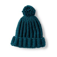 Bernat - Basic Knit Ribbed Family Hat in Softee Chunky (downloadable PDF)