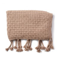 Bernat - Basketweave Knit Throw in Maker Outdoor (downloadable PDF)