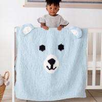 Bernat - Bear-y Cozy Knit Blanket in Baby Blanket (downloadable PDF)