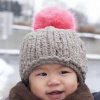 Bernat - Big Stitch Baby Hat in Baby Blanket (downloadable PDF)