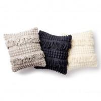 Bernat - Bobble and Fringe Crochet Pillow in Blanket (downloadable PDF)