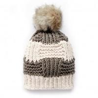 Bernat - Box Stitch Knit Hat in Beyond (downloadable PDF)