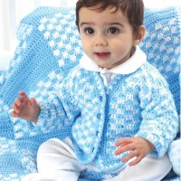 Bernat - Boys Cardigan in Softee Baby (downloadable PDF)