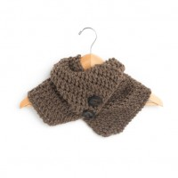 Bernat - Buttoned Wrap Scarf in Roving (downloadable PDF)