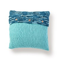 Bernat - Button Up Knit Pillow in Blanket  (downloadable PDF)