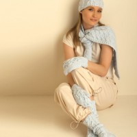 Bernat - Cable Hat, Mittens, Scarf and Socks in Satin (downloadable PDF)
