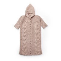 Bernat - Cable Knit Bunting Bag in Softee Baby (downloadable PDF)