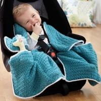 Bernat - Car Seat Blanket in Softee Baby (downloadable PDF)