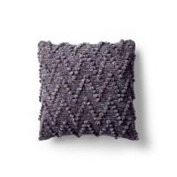 Bernat - Chevron Bobble Velvet Knit Pillow in Velvet (downloadable PDF)