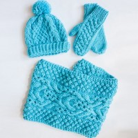 Bernat - Chill Chaser Set (Hat, Mittens & Cowl) in Softee Chunky (downloadable PDF)