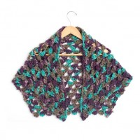 Bernat - Cluster Stitch Wrap in Softee Chunky (downloadable PDF)