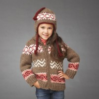 Bernat - Cocoa Jacket and Hat in Roving (downloadable PDF)