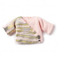 Bernat - Knit ColorBlock Kimono Cardigan in Baby Blanket Tiny  (downloadable PDF)