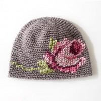 Bernat - Coming Up Roses Hat in Satin (downloadable PDF)