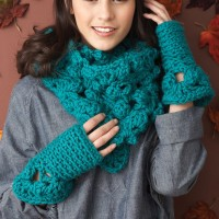 Bernat - Cowl and Fingerless Mitts in Softee Chunky(downloadable PDF)