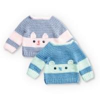 Bernat - Crochet Character Sweaters in Softee Baby (downloadable PDF)
