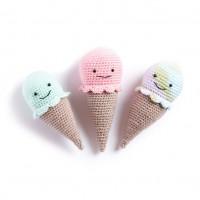 Bernat - Crochet Ice Cream Cone Rattle in Softee Baby (downloadable PDF)